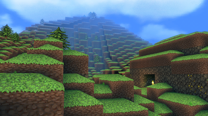 A randomly generated mountain.