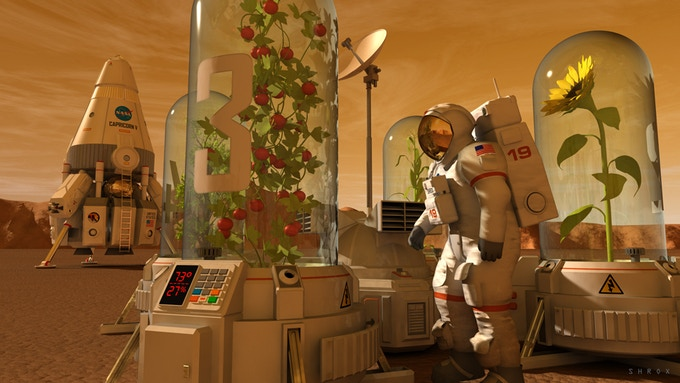 A portable controlled environment chamber for botany experiments on Mars.