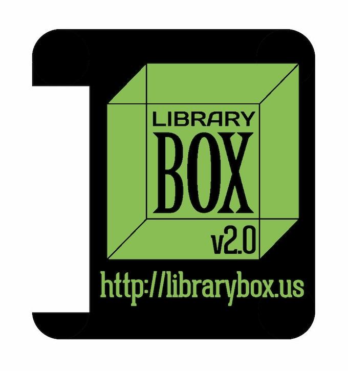 Die-Cut LibraryBox Sticker for MR3020