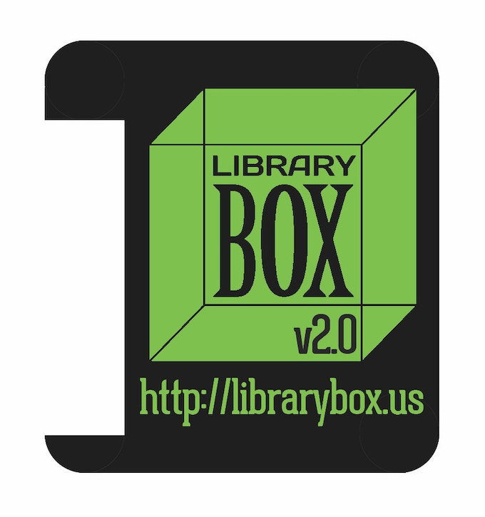 Die-Cut LibraryBox Sticker for MR3020