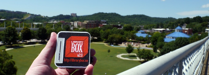 LibraryBox overlooks Chattanooga, TN