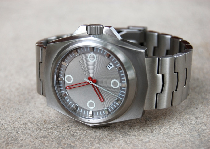 The Tessera in brushed stainless with silverface dial