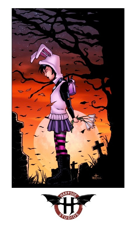 """RAZOR: LOST GIRL 11"""" by 17"""" print sign /remark $25,000 stretch goal"""
