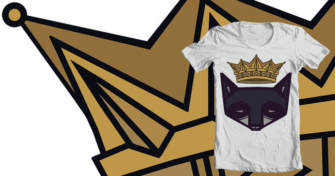Raccoon King T-shirt, Designed by myself