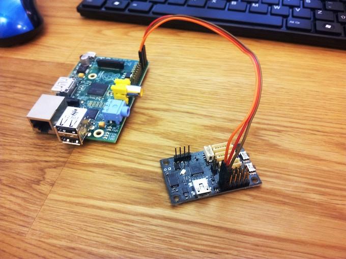 Raspberry Pi hooked up to Thalamus using the UART