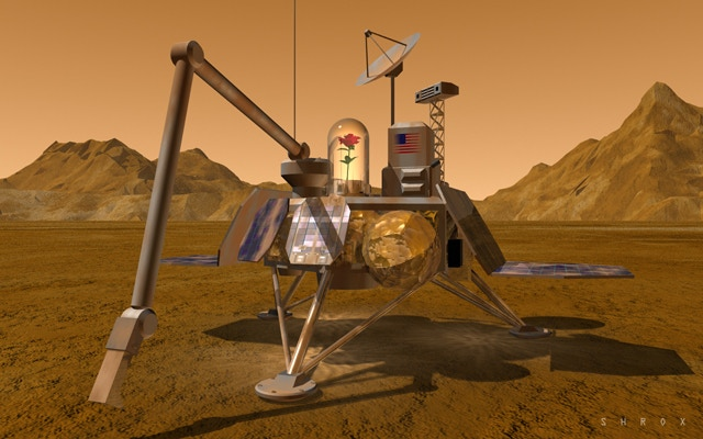 A proposed mission to see if Martian soil is fertile. Will a flower grow in the Red Dirt?
