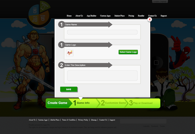 You will need to provide information like game name, logo & description