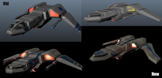 Refinements of the corvette light capital ship.
