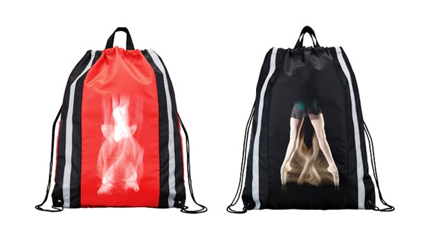 Prototype - final designs may change.  Perfect for ballet class or the gym. Only one bag included, unless your order more than one.