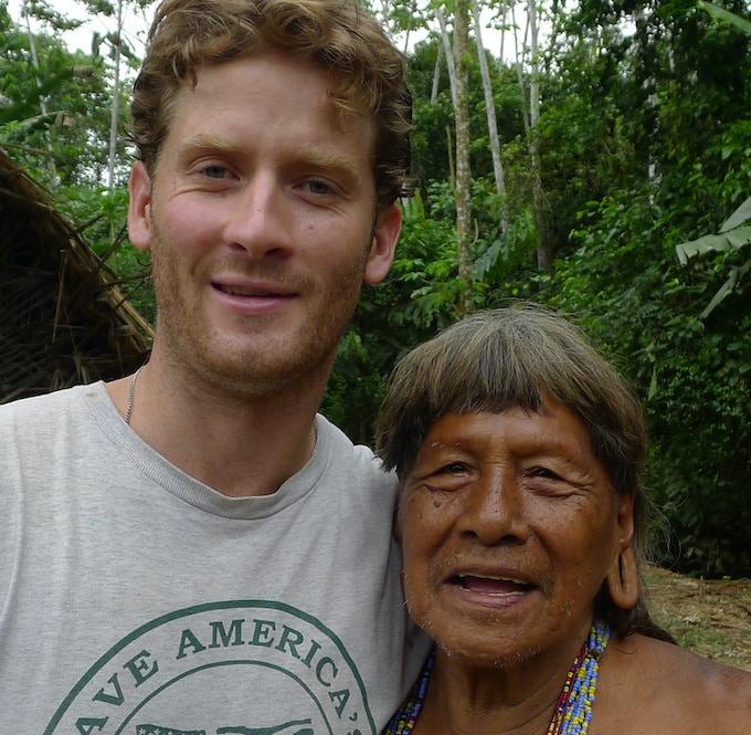 Ryan and Kemperi, the last of the Waorani shaman. ©Justin Lotak