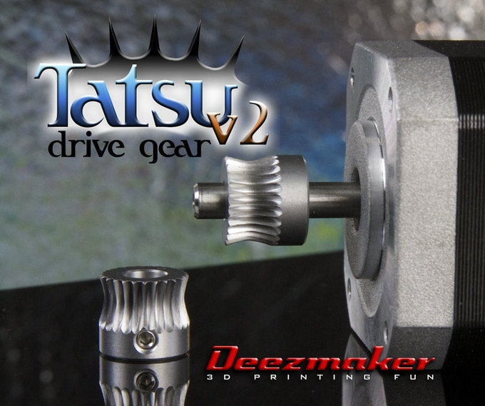 Our custom made Tatsu filament drive gear