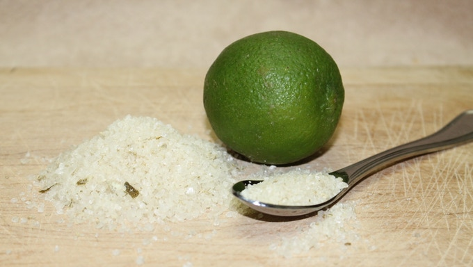 Finished Tequila Lime Salt :)