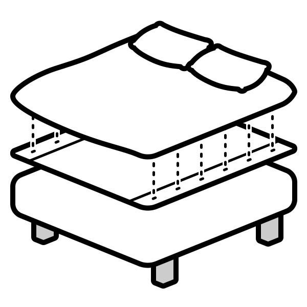 The Top Sheet And The Duvet Cover Connect Together Using A