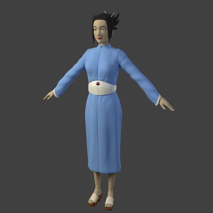 "3D Character Model for ""Hiromi Aoki Lerner"" (Bela Szabo)"
