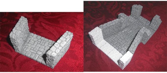 "3"" to 2"" Dungeon Terrain Convertor Piece"