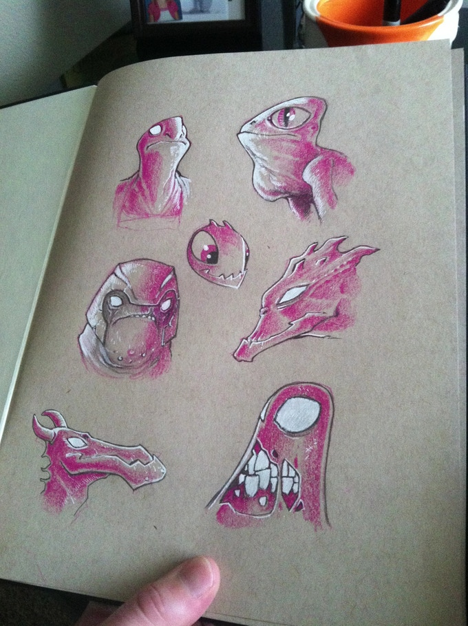 A page from the 100 page BAAKO sketchbook!