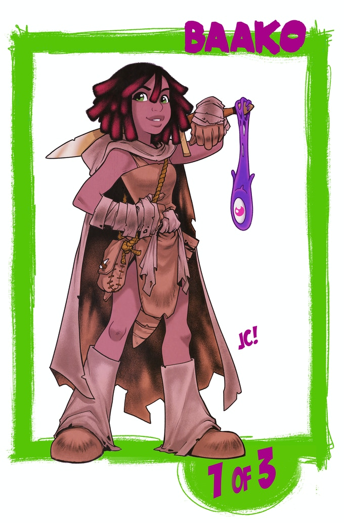 1 of 3 BAAKO TRADING CARDS!