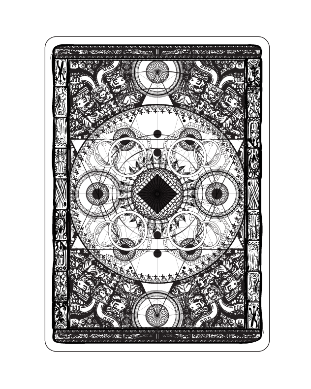 The Mysterious Deck uncolored back design