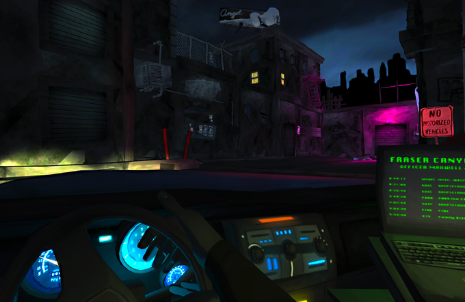 In-Game Screenshot - Approaching Crime Scene