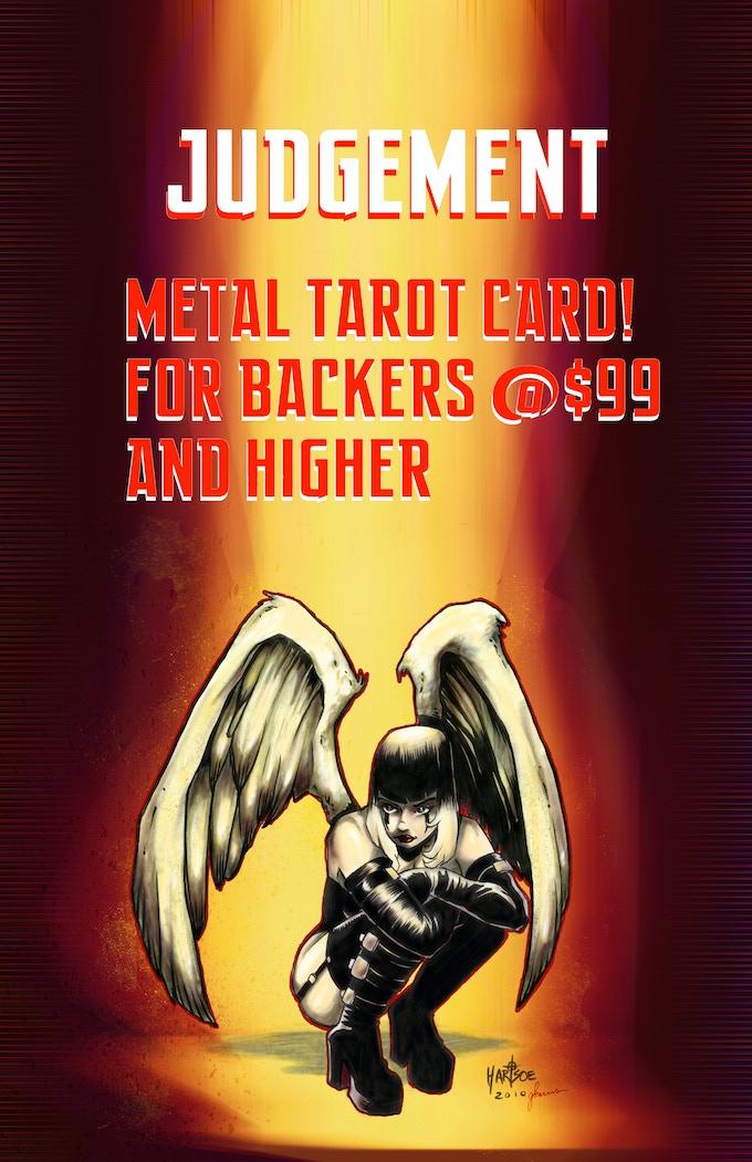 STRETCH GOAL$26K- RAZOR METAL TAROT CARD: JUDGEMENT