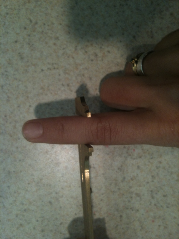 I used the caliper tool to measure peoples ring size up to the first knuckle