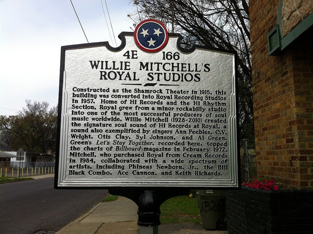 Historic Marker At Willie Mitchell's Royal Studios In Memphis