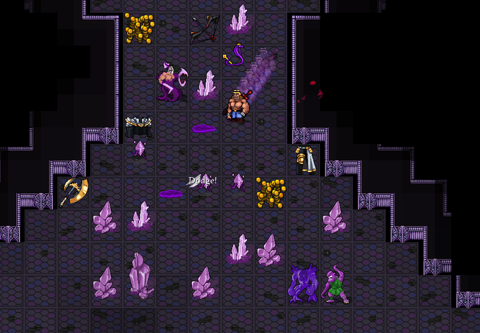 Only the strongest Dungeonmens can put down the menace of the Dread Purpleonians!