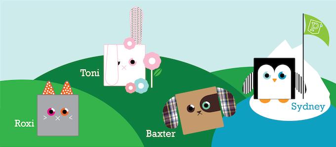 Series1 Poketti Characters: Sydney, Toni, Baxter and Roxi