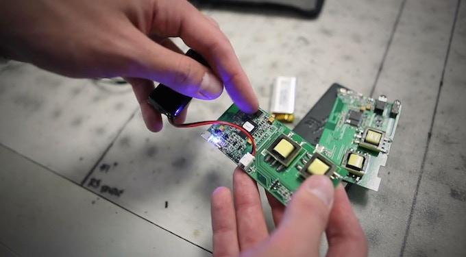 Custom printed circuit board from our audio engineering team in Taiwan