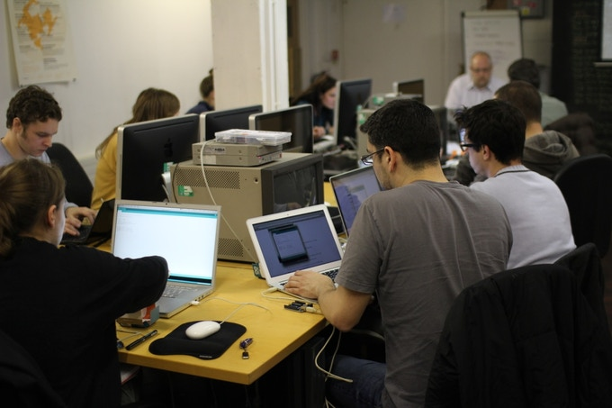 Working away in our MediaLab.