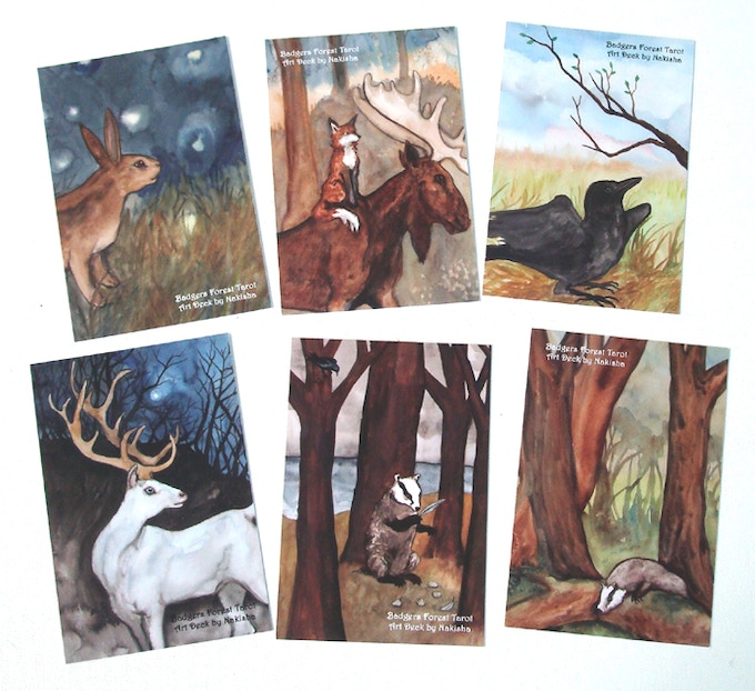 Postcards of the Artwork