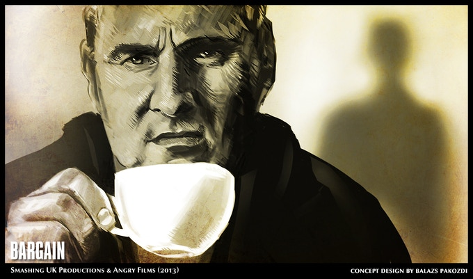 Zoran drinks his coffee
