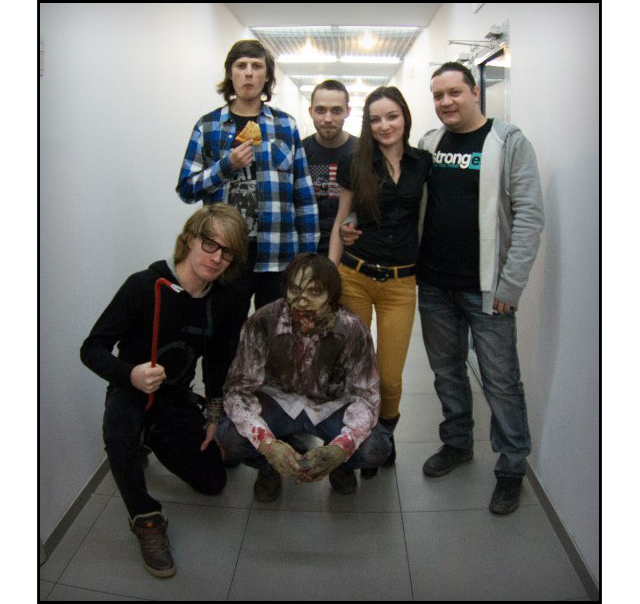 Our team and a zombie fellow