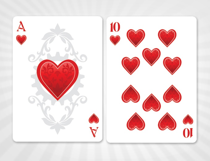 Ace and 10 of Hearts - SILVER EDITION