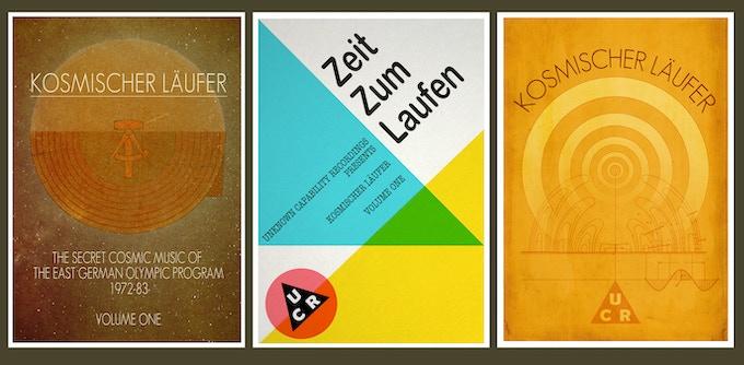 3 x A6 Kosmischer Läufer art cards. (click to enlarge)