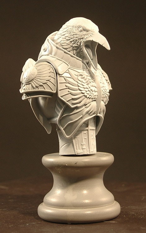 "Rough ""in progress"" Gothitropolis Raven bust"