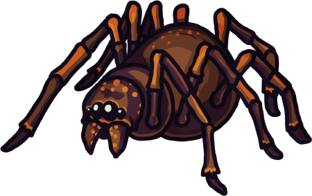 Crypt Run giant spider