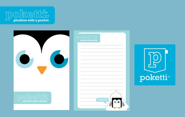 Our Kickstarter reward includes a Poketti Notebook (in development) that fits inside the back pocket.