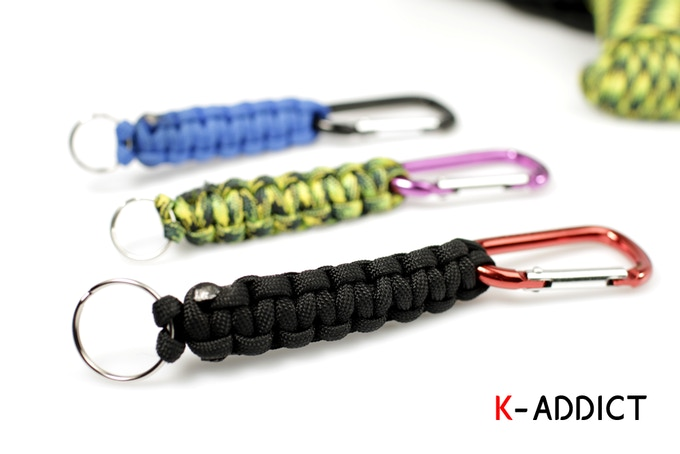 Handmade K-Addict cobra 3ft paracord keychains - Please add $4 to your pledge and PM us the color you'd like.