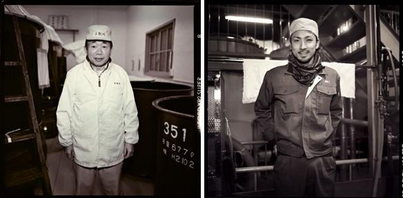Left, Yamamoto Toji. Right, Yasuyuki Yoshida