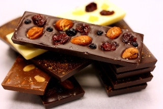 Meet our bars: Orchard, Spicy Aztec, Salty, Salted Peanut, Cherry Ginger