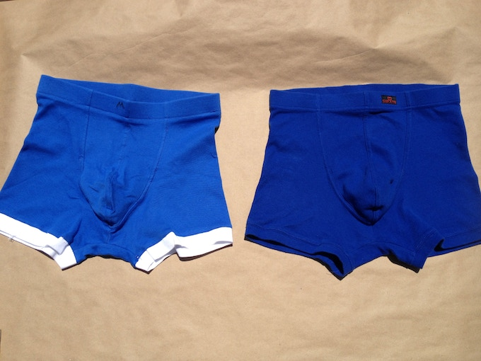 I made the one on the Left, Apex industries sent an identical sample. The pouch is sewn inside.