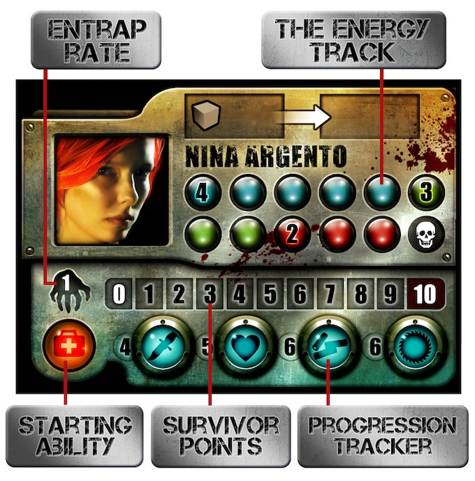 The most recent character board version with improved graphics