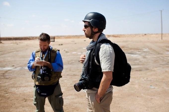 Greg and Chris in Libya ©Nicole Tung