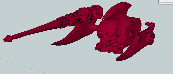 Dark Elf Raider Laser Cannon (skull to be removed)