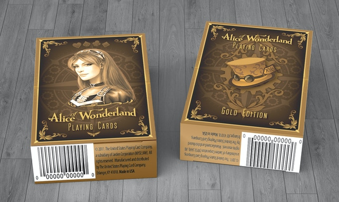 Alice of Wonderland Playing Cards - Gold & Silver Editions