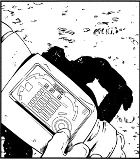 A sample panel from one of the pages of Last Breath.