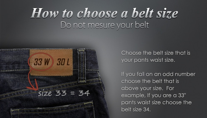 how to pick your belt size