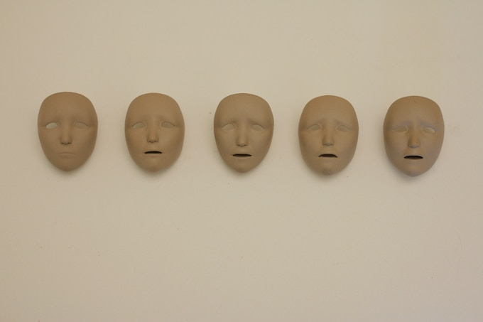Though these are just test faces so far and not yet framed, this is an idea of what you will be getting! Each face is 3D printed, cast and delicately hand-painted.