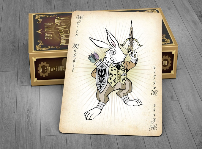 The White Rabbit Joker Card - GOLD EDITION
